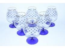 Set 6 Glasses for Cognac pic. Cobalt Net