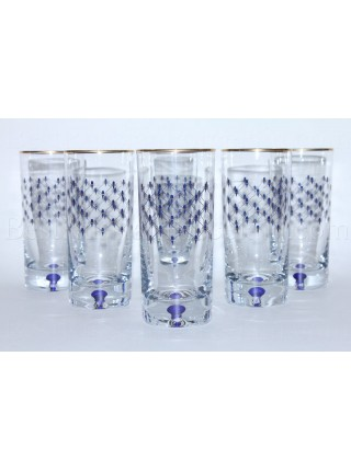 Set 6 Glasses for Juice pic. Cobalt Net