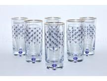 Set 6 Glasses for Juice pic. Cobalt Net
