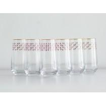 Set 6 Glasses for Juice pic. Net Bordeaux, Blues