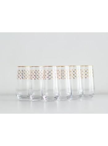 Set 6 Glasses for Juice pic. Golden Net