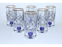 Set 6 Glasses / Shot for Vodka pic. Cobalt Net