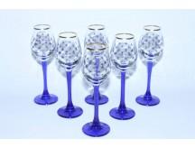 Set High 6 Glasses / Shot for Vodka pic. Cobalt Net