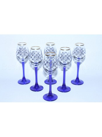 Set High 6 Glasses for Vodka pic. Cobalt Net