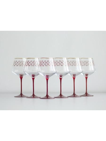 Set 6 Glasses for Water pic. Net Bordeaux, Blues