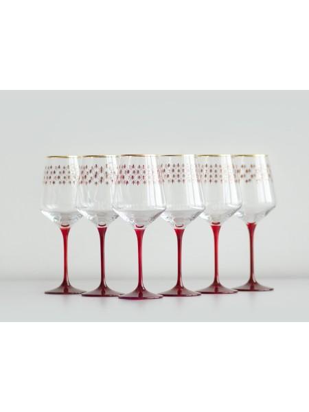 Set 6 Glasses for Wine pic. Net Bordeaux, Blues