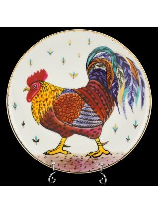 Decorative Plate pic. Motley cock, Form Ellipse