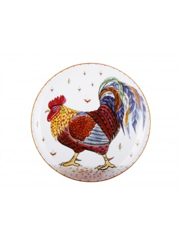 Decorative Plate pic. Motley cock, Form Ellipse
