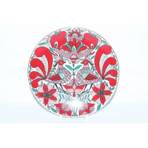 Decorative Plate pic. Fantastic bird, Form Ellipse