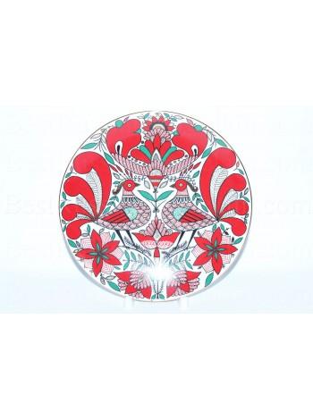 Decorative Plate pic. Fantastic bird, Form Ellipse
