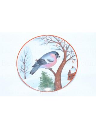 Decorative Plate pic. Bullfinch, Form Ellipse