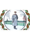 Decorative Plate pic. Generalissimo Stalin J.V., Form European
