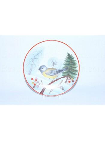 Decorative Plate pic. Titmouse, Form Ellipse