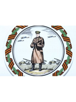 Decorative Plate pic. Marshal Rokossovsky Konstantin, Form European