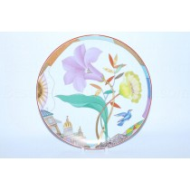 Decorative Plate pic. Purple Evening, Form Ellipse