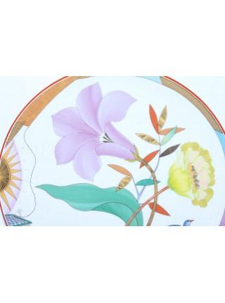 Decorative Plate pic. Purple Evening, Form Ellipse