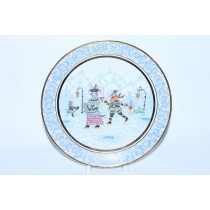 Decorative Plate pic. Winter Fun 2, Form Ellipse