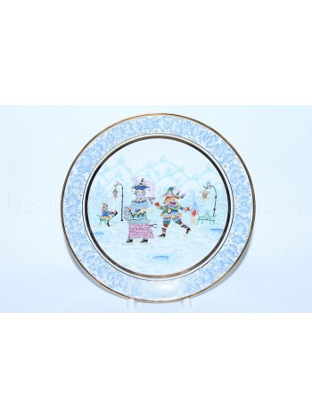 Decorative Plate pic. Winter Fun, Form Ellipse