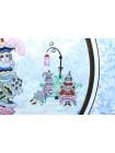 Decorative Plate pic. Winter Fun, Form Ellipse