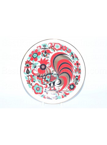 Decorative Plate pic. Rooster, Form Ellipse
