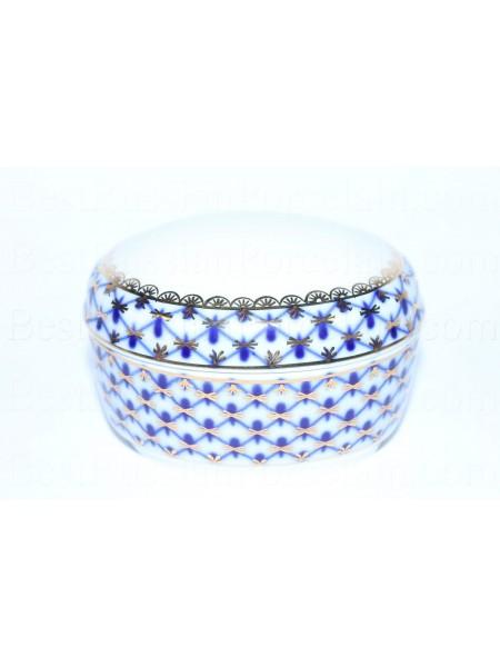 Jewellery Box pic. Cobalt Net, Form Oval