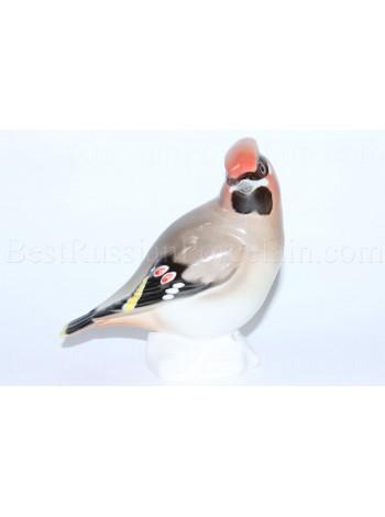 """Sculpture Bird Waxwing (Sviristel-2), big (Height 4.72"""")"""