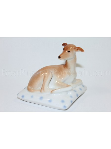 Sculpture Dog Italian Greyhound on pillow Mimmi