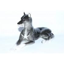 Sculpture Dog Black Mastiff