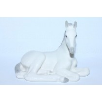 Sculpture Lying White Foal
