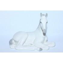Sculpture Lying White Foal