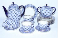 Coffee Set pic. Cobalt Net 6/20, Form Tulip