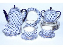 Coffee Set pic. Cobalt Net 6/20, Form Tulip