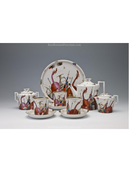 Tea Set Nocturne (Music Outdoors) 6/15 Form Heraldic