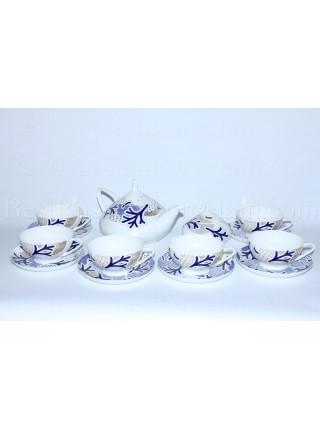 Tea Set pic. Blue Pattern 6/14, Form Dome