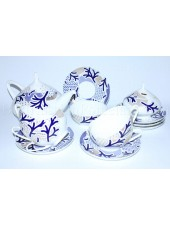 Tea Set pic. Blue Pattern 6/14, Form Dome
