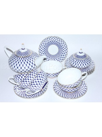 Tea Set pic. Cobalt Net 6/14, Form Dome