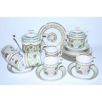 Tea Set pic. Nephrite Background 6/20, Form Heraldic