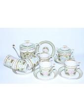 Tea Set pic. Nephrite Background 6/14, Form Heraldic