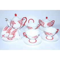 Tea Set pic. Coral 6/14, Form Natasha