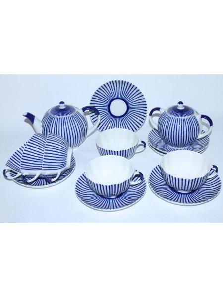 Tea Set pic. Frenchman (Ripple) 6/14, Form Tulip