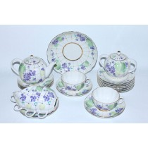 Tea Set pic. Forest Violet 6/21, Form Tulip