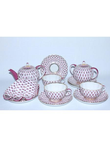 Tea Set pic. Net Blues 6/14 Form Tulip