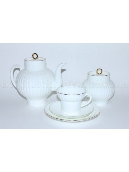 Tea Set pic. Golden Edge 6/20 Form Wave