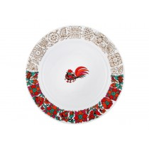 "Dining Plate pic. Red Rooster 1 8.46"", Form European-2"