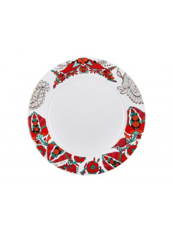 "Dining Plate pic. Red Rooster 1 9.84"", Form European-2"