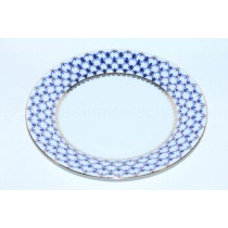 "Dinner Plate pic. Cobalt Net 8.46"", Form European"