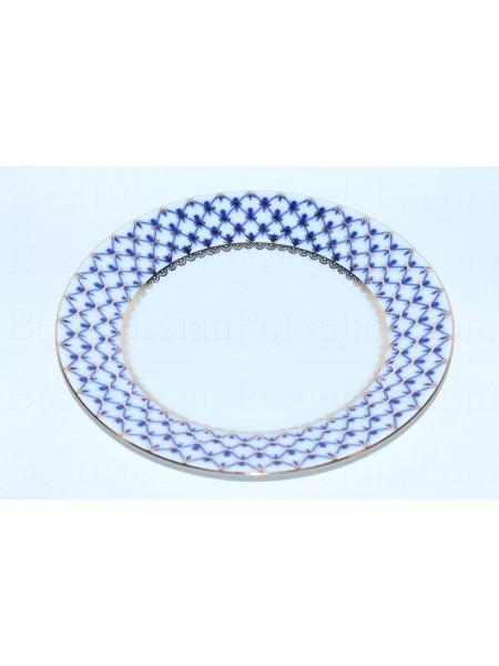 "Dinner Plate pic. Cobalt Net 8.46"", Form European"