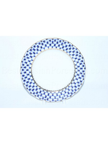 "One Dessert Plate 5.91"" pic. Cobalt Net, Form Tulip"