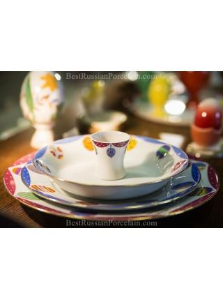 Set 3 Plates pic. Amethyst(Easter), Form European