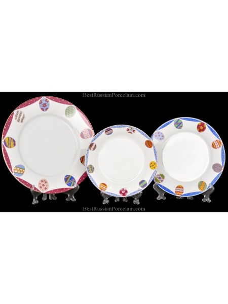 Set 3 Plates pic. Amethyst(Easter), Form European